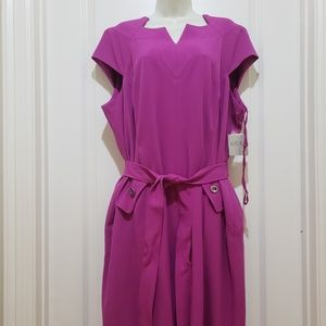 NWT Kasper dress fushia sz 20